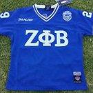 ZETA PHI BETA blue White short sleeve Football jersey Z-KITTY Z-PHI-B ZETA S