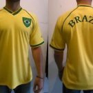 Brazil Soccer Jersey Mens Brazil yellow short sleeve Soccer Jersey S-2X #1