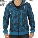 Men's floral print Zip Up Hoody Hoodie Jacket Fashion Casual Hoody Jacket S-2X