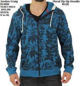 Men's floral print Zip Up Hoody Hoodie Jacket Fashion Casual Hoody Jacket S-2X