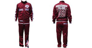 Morehouse College Jogging Suit 2PC  Mens Warm up set M-4