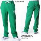 AKADEMIKS green casual sweat pants Mens fleece warm up gym jogging pants S-XL