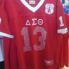 Delta Diva Delta Sigma Theta Football Jersey Sorority Red Bling Jersey