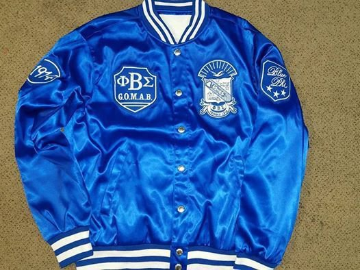 Phi Beta Sigma Fraternity Jacket Phi Beta Sigma Satin Letterman Jacket GOMAB