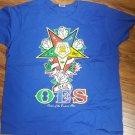 ORDER OF THE EASTERN STAR short sleeve T shirt OES MASONIC T-SHIRT BLUE