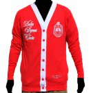 Delta Sigma Theta Sorority 1913 RED WHITE LIGHT CARDIGAN SWEATER OO-OOP #2