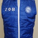 Zeta Phi Beta Sorority Vest Jacket Zeta Phi Beta Blue Bubble Vest M-6X