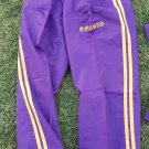 OMEGA PSI PHI FRATERNITY JOGGING PANTS PURPLE GOLD DRAWSTRING NYLON GYM SWEATS