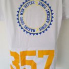 Freemason Masonic 357 Mason T-Shirt White Short Sleeve Freemason T-shirt LARGE