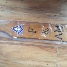 Freemason Masonic padel Freemasonry Fraternity wooden paddle F&AM Mason paddle