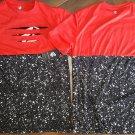 ROCAWEAR Distressed Red Black short sleeve T shirt Rocaware Monogram T-shirt