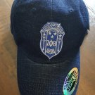 ZETA PHI BETA SORORITY DENIM BLUE CAP HAT Z PHI B DAD HAT 1920 5 PEARLS Z-KITTY