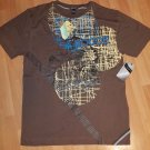 Members Only Brown Short sleeve T-shirt Vintage style 80's Tee Members Only XL