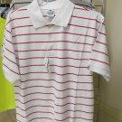 Red white stripe polo shirt White Red stripe short sleeve polo shirt Polo shirt