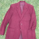 Vintage Kingsridge Burgundy Ultra Suede Blazer Men's Sport Coat Large