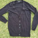 Black Long Sleeve Cardigan Sweater Forever 21 Used Black soft cotton cardigan M