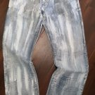 BLUE DENIM JEAN PANTS ARTFUL DODGER WHITE WASH DENIM JEAN PANTS 34Wx32L