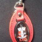 Kappa Alpha Psi Fraternity Leather Key Chain QUE-DOG Keychain belt clip