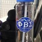 Phi Beta Sigma Fraternity Water bottle Divine 9 Jug Jar 16 oz Drink Container