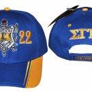 SIGMA GAMMA RHO SORORITY BASEBALL HAT CAP BLUE GOLD SIGMA GAMMA RHO HAT #2