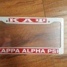 Kappa Alpha Psi Fraternity Plastic License Plate Frame White Divine 9  Frame
