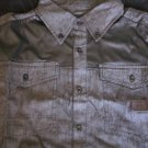 Black Denim long sleeve button up shirt Well Established long sleeve shirt  L