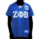 ZETA PHI BETA SORORITY FOOTBALL JERSEY WOMENS ZETA PHI BETA BLUE BLING JERSEY 3X