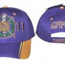 OMEGA PSI PHI FRATERNITY BASEBALL HAT CAP Q-DOG OMEGA PURPLE BASEBALL HAT CAP #2