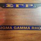 SIGMA GAMMA RHO Sorority  Plastic License Plate Frame Black Divine 9 Frame