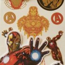 Marvel Avengers Iron Man Temporary Tattoos MARVEL COMICS LARGE TATTOOS 10PC
