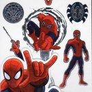 Marvel Avengers Spider Man Temporary Tattoos MARVEL COMICS LARGE TATTOOS 10PC