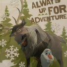 "Disney Frozen Olaf Sven 40 Page Journal ""Always up for Adventure"""