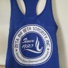 ZETA PHI BETA SORORITY TANK TOP 1920 Z-PHI-B SLEEVELESS BLUE TANK TOP #2