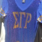 SIGMA GAMMA RHO SORORITY SEQUENCE V-NECK SHIRT BLOUSE 1922 POODLE