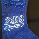 Zeta Phi Beta Sorority Christmas Stocking Blue Zeta Phi Beta Bling Stocking