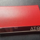 Delta Sigma Theta  Engrave Leather Business Card Holder Magnetic Closure