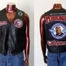 Tuskegee Airmen Red tails Leather Vest Jacket  Red Tails Motorcycle Vest MEDIUM