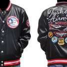 Tuskegee Airmen Red Tails Jacket US Air Force Satin Red Tails 332nd Divison Coat