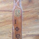 Iota Phi Theta Fraternity wood paddle Wooden IOTA Fraternity wall paddle plaque