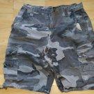 Gray Camouflage cargo shorts Camouflage Casual walking Cargo shorts 34W