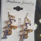 Sigma Gamma Rho Sorority earrings Poodles 1922 Stone Pin S-G-RHO #2