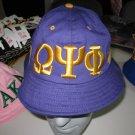 OMEGA PSI PHI PURPLE GOLD BUCKET HAT BOONEY SAFARI HAT WOODS BUCKET CAP #1