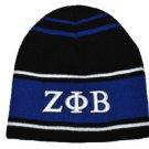 ZETA PHI BETA SORORITY BEANIE HAT SKULL CAP Z-PHI B BLACK BLUE BEANIE 1920