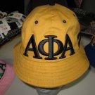 ALPHA PHI ALPHA BLACK GOLD BUCKET HAT BOONIE SAFARI HAT WOODS BUCKET CAP #2