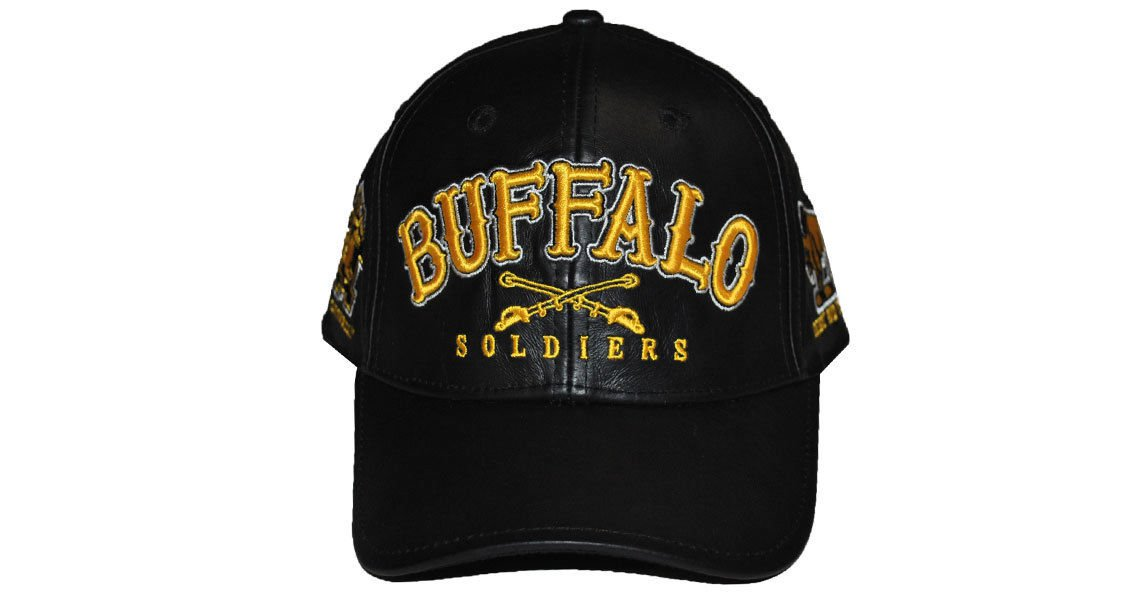 Buffalo Soldiers Military Cap 1866 Buffalo Soldier US ARMY LEATHER BASEBALL CAP