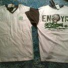 white gray short sleeve V neck T shirt  Enyce Gray white short sleeve t shirt L