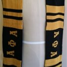 Alpha Phi Alpha Fraternity Neck Scarf Greek Fraternity Black Gold Neck Scarf