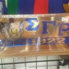 Sigma Gamma Rho Sorority Wood Desktop Letters Divine 9 Office Decor Plaque