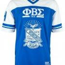 Phi Beta Sigma Fraternity Football Jersey Blue Fraternity Hockey Jersey