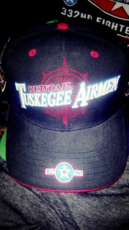 TUSKEGEE AIRMAN  BASEBALL CAP TUSKEGEE AIRMEN RED TAIL HAT USA AIR FORCE #9
